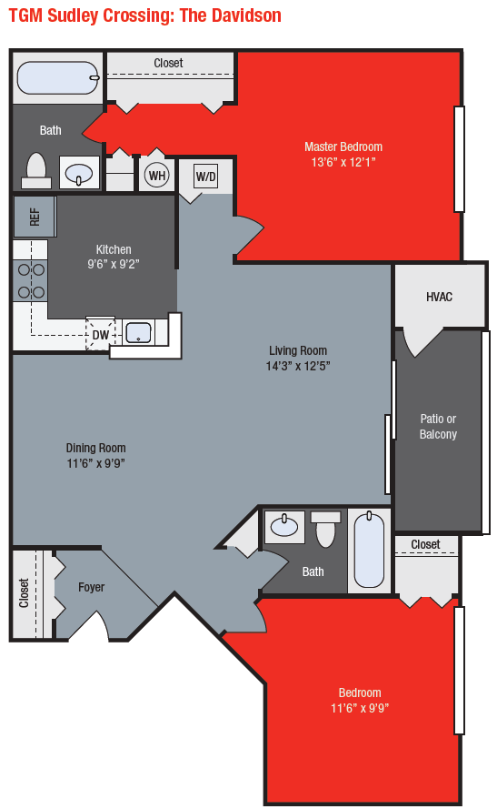 Apartments For Rent TGM Sudley Crossing Apartments - Davidson
