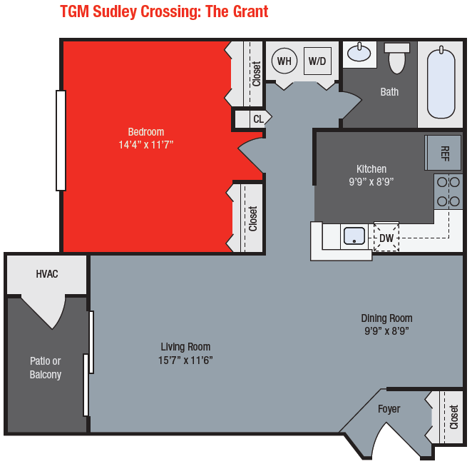 Apartments For Rent TGM Sudley Crossing Apartments - Grant