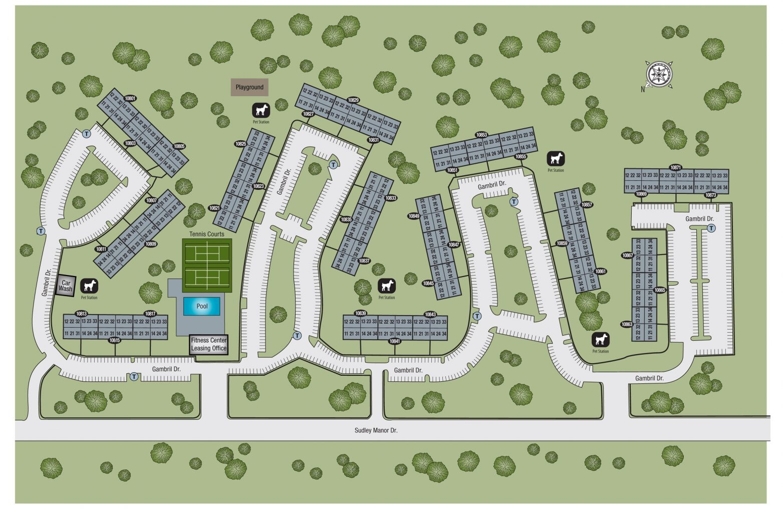 TGM Sudley Crossing Apartments Map